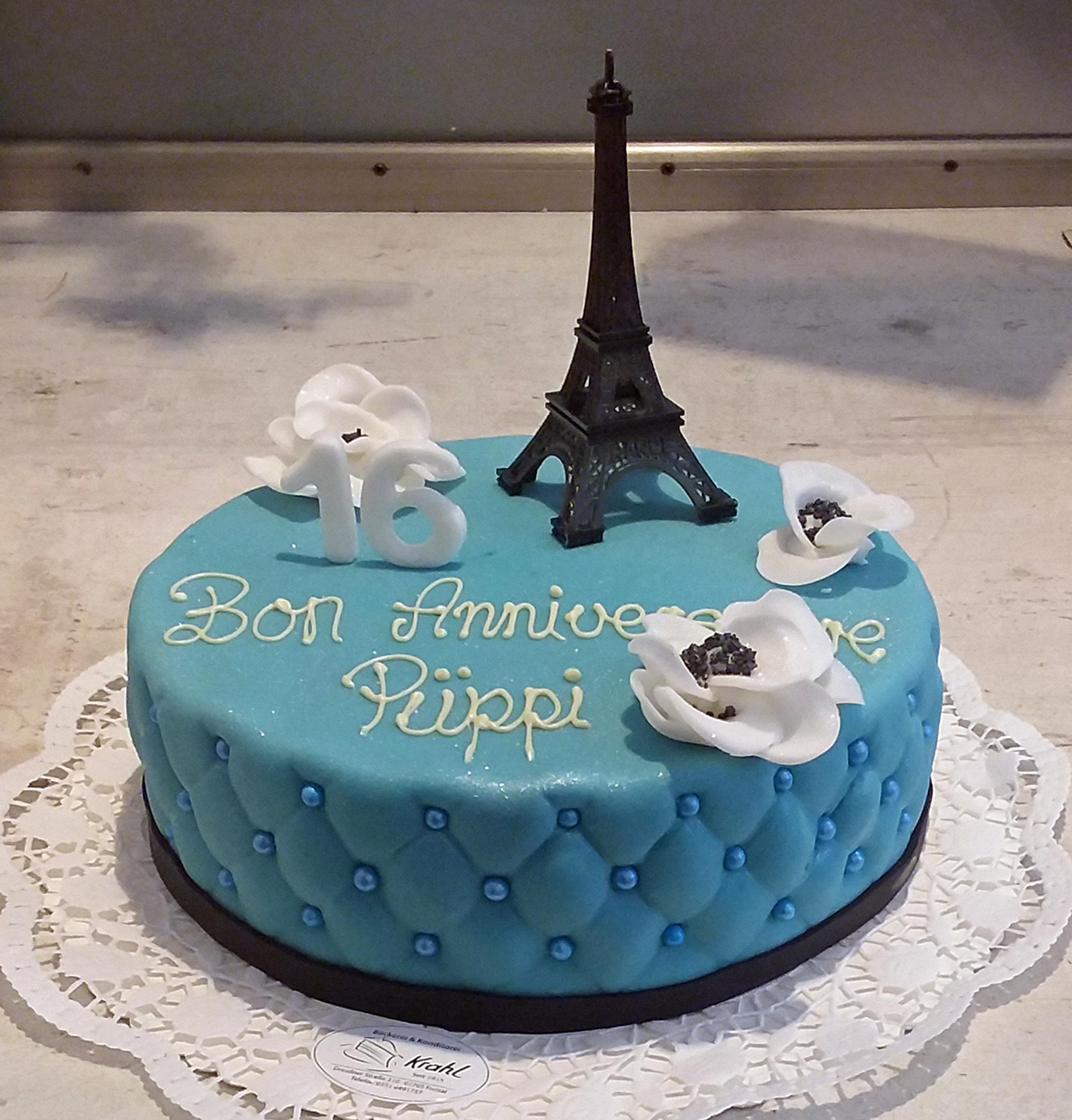 Geburtstagstorte für Paris-Fans