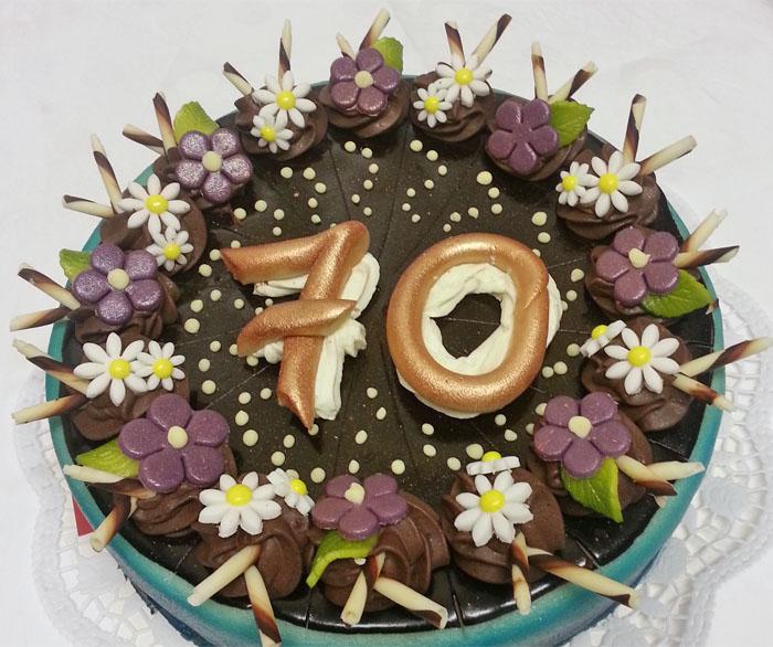 Geburtstagstorte zum 70.