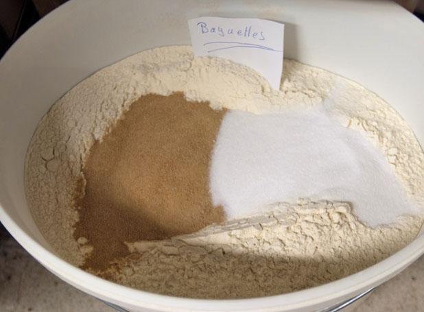 Vorbereitungen für den Baguette-Teig