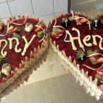Hochzeitstorte Erdbeer-Gelee-Schokolade