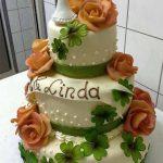 Hochzeitstorte Frosch und Glücksklee