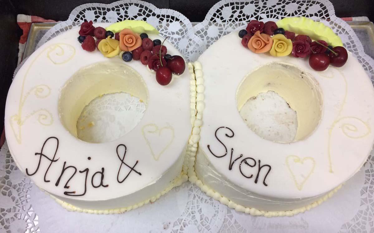 Hochzeitstorte Eheringe