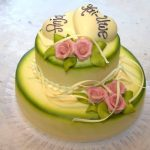 Hochzeitstorte rosé grün