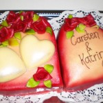 herzige Hochzeitstorte