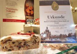 Urkunde Dresdner Christstollen 2016