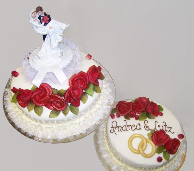 Zweistöckige Hochzeitstorte Mit Orchideen Pictures to pin on ...